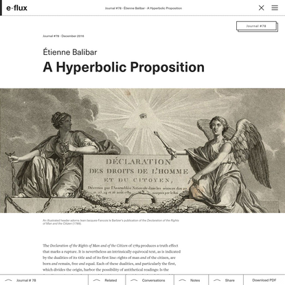 A Hyperbolic Proposition