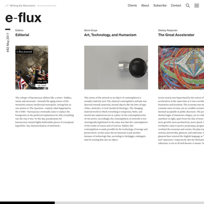 #82 May 2017 - Journal - e-flux