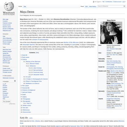 Maya Deren - Wikipedia
