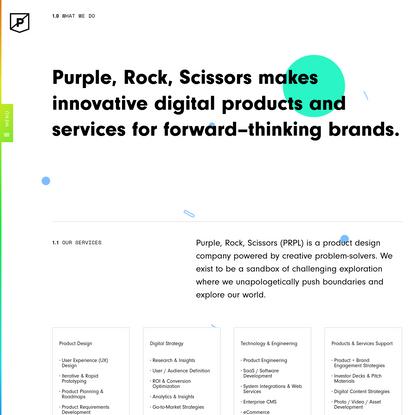 Digital Product Design & Development Agency   Purple Rock Scissors
