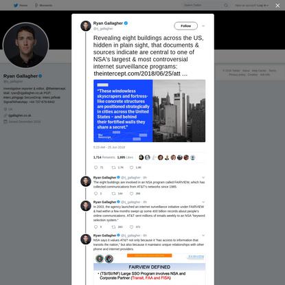 Ryan Gallagher on Twitter