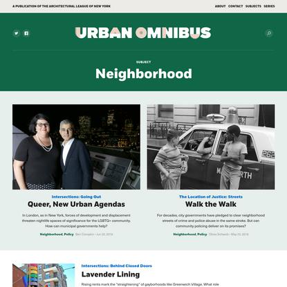 Neighborhood Archives | Urban Omnibus
