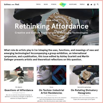 Rethinking Affordances