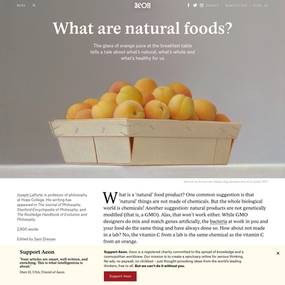 What are natural foods?   Aeon