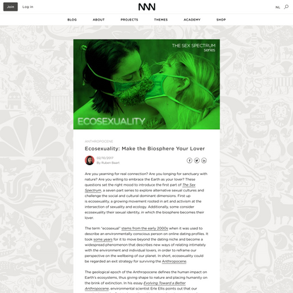 Ecosexuality | Next Nature Network