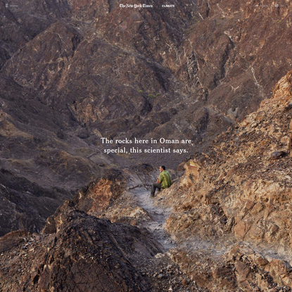 How Oman's Rocks Could Help Save the Planet