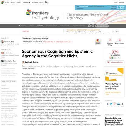 Spontaneous Cognition and Epistemic Agency in the Cognitive Niche