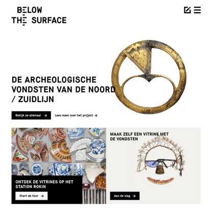 Below the Surface - Archeologische vondsten Noord/Zuidlijn Amsterdam