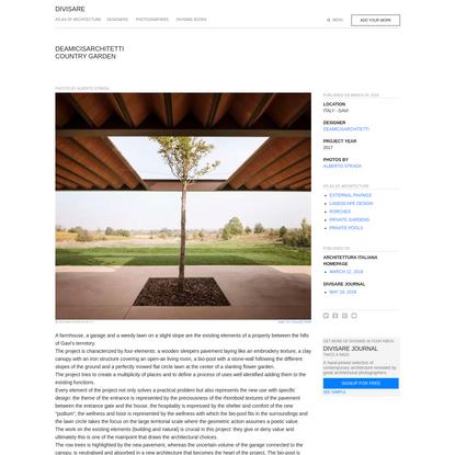 deamicisarchitetti, Alberto Strada · Country garden