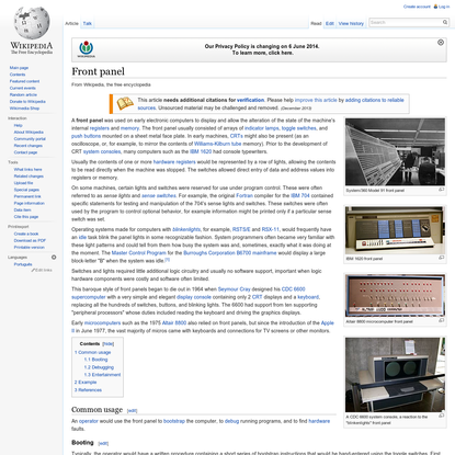 Front panel - Wikipedia, the free encyclopedia