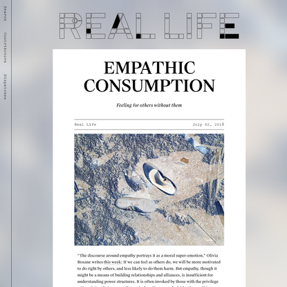 EMPATHIC CONSUMPTION - Real Life