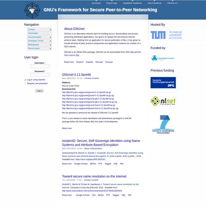 GNUnet | GNU's Framework for Secure Peer-to-Peer Networking