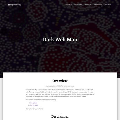 Dark Web Map — Hyperion Gray