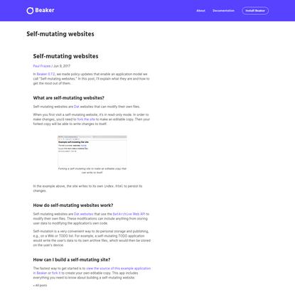 Self-mutating websites