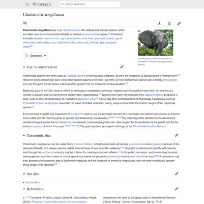 Charismatic megafauna - Wikipedia