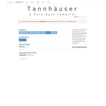 Tannhäuser Pd Compiler