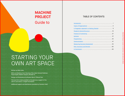 Machine Project Guide to Starting Your Own Art Space