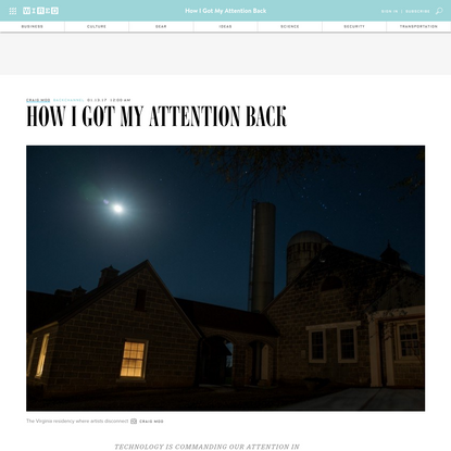 How I Got My Attention Back