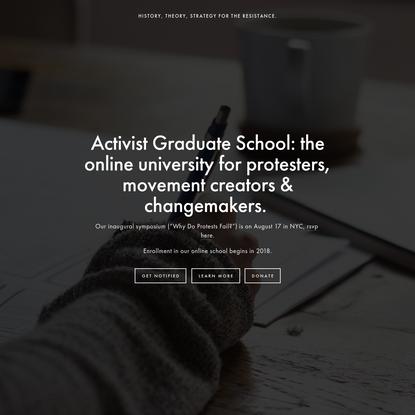 Activist Graduate School