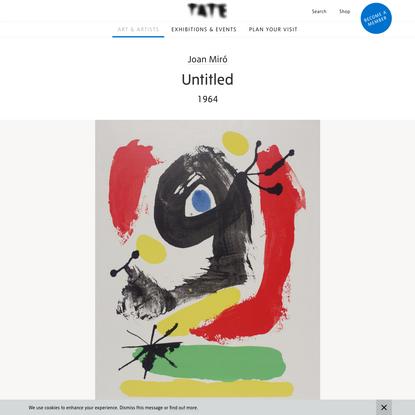 'Untitled', Joan Miró, 1964 | Tate