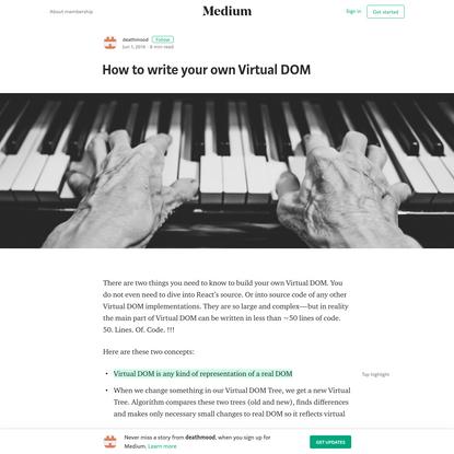 How to write your own Virtual DOM - deathmood - Medium