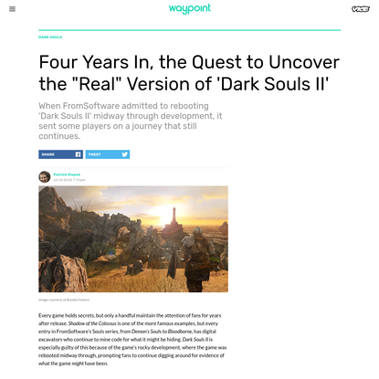"""Four Years In, the Quest to Uncover the """"Real"""" Version of 'Dark Souls II'"""