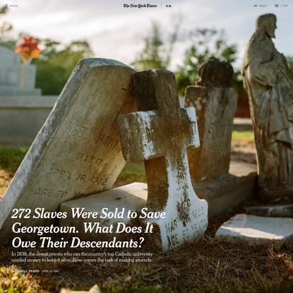 272 Slaves Were Sold to Save Georgetown. What Does It Owe Their Descendants?