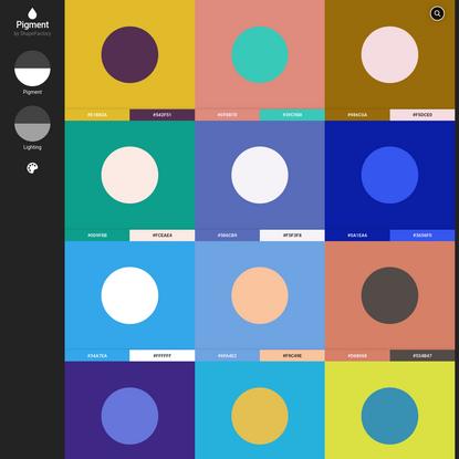 Pigment by ShapeFactory   Simple Color Palette Generator