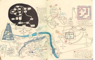 """""""A map of the original ZORK I. Drawn around 1981 by Steven Roy, this detailed image provides a guide to the user."""" (via notgames)"""