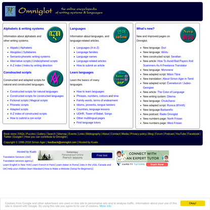 Omniglot - the online encyclopedia of writing systems and languages