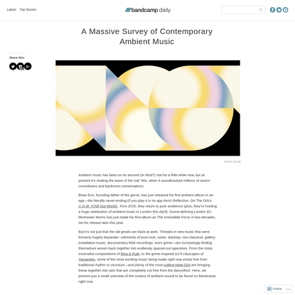 A Massive Survey of Contemporary Ambient Music