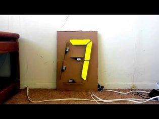 Cardboard 7-segment display, Arduino
