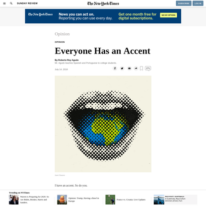 Opinion | Everyone Has an Accent
