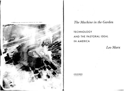 Leo Marx, The Machine in the Garden