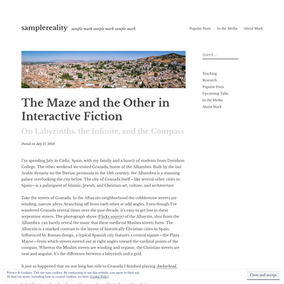 The Maze and the Other in Interactive Fiction