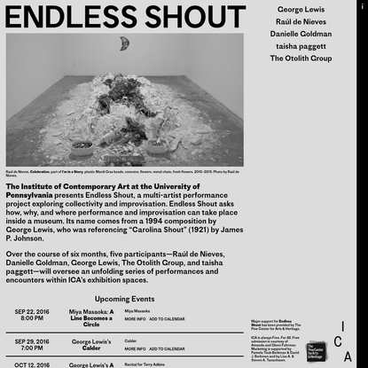 Endless Shout, ICA Philadelphia