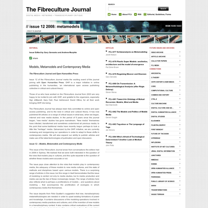 The Fibreculture Journal : 12