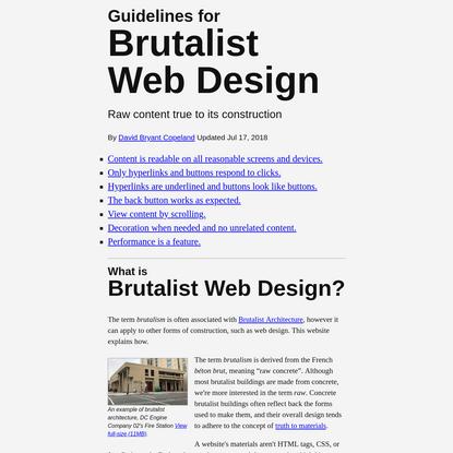 Brutalist Web Design