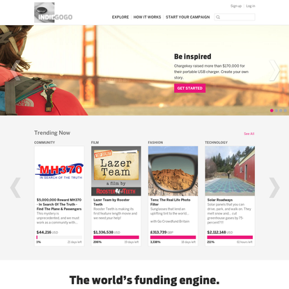 Indiegogo: Crowdfunding for what matters to you - start now!