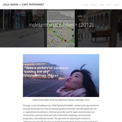 indeterminate hikes+ (2012)