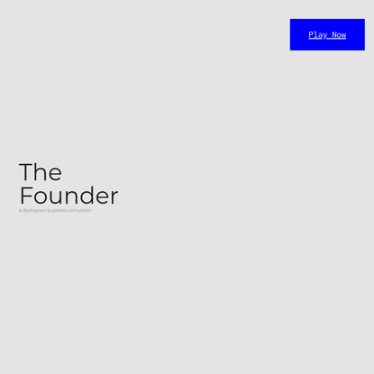 The Founder: Change the World