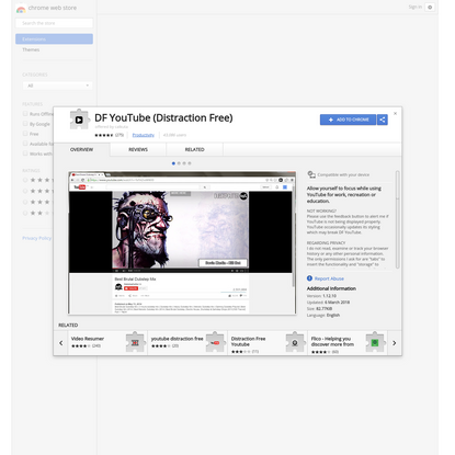 DF YouTube (Distraction Free)