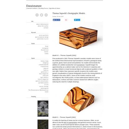 Thomas Sopwith's Stratigraphic Models