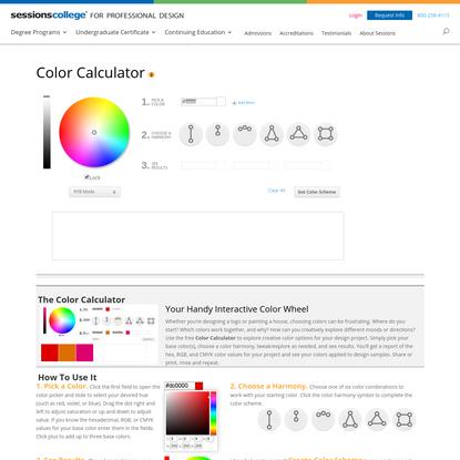 Color Wheel - Color Calculator | Sessions College