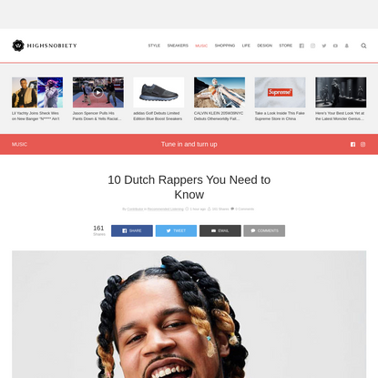 10 Dutch Rappers You Need to Know   Highsnobiety