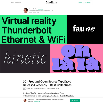 30+ Free and Open Source Typefaces Released Recently - Best Collections