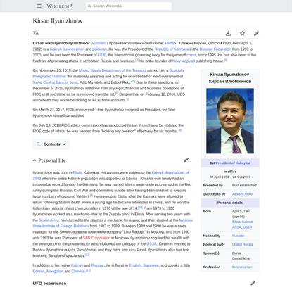 Kirsan Ilyumzhinov - Wikipedia