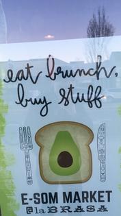 eat brunch. buy stuff.
