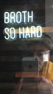 broth so hard.
