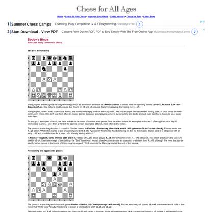 Chess Tutorial : Bobby's Binds